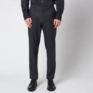 Canali Men's 5 Pocket Soft Construction Slim Fit Trousers - Black
