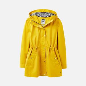 Joules Women's Shoreside Waterproof A-Line Coat - Antique Gold