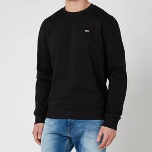 Tommy Jeans Men's Regular Fleece Crewneck Sweatshirt - Black