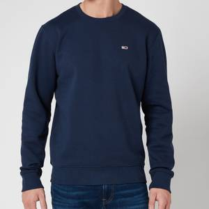 Tommy Jeans Men's Regular Fleece Crewneck Sweatshirt - Twilight Navy