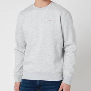 Tommy Jeans Men's Regular Fleece Crewneck Sweatshirt - Light Grey Heather