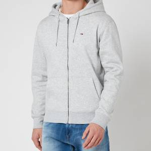 Tommy Jeans Men's Regular Fleece Zip Hoodie - Light Grey Heather