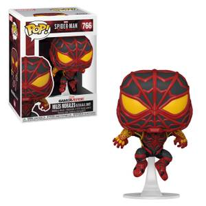 Marvel Spiderman Miles Morales Striped Suit Pop! Vinyl