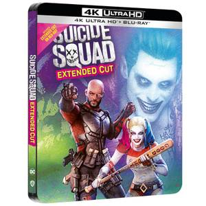 Suicide Squad - Steelbook Exclusivo de Zavvi 4K Ultra HD (Incluye 2D Blu-ray)