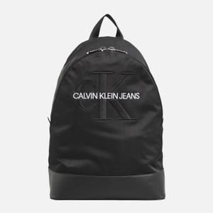 CK Jeans Men's Monogram Nylon Packable Backpack - Black