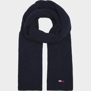 Tommy Jeans Men's Basic Flag Ribbed Scarf - Twilight Navy