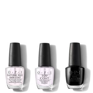 OPI Nail Lacquer Black Onyx At-Home Manicure Bundle