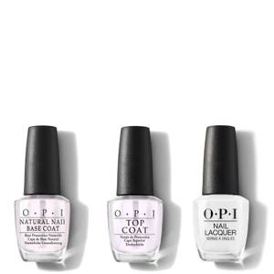 OPI Nail Lacquer Alpine Snow At-Home Manicure Bundle