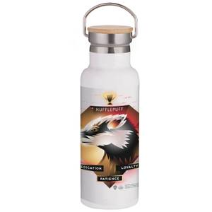 Harry Potter Hufflepuff Chromatherapy Portable Insulated Water Bottle - White