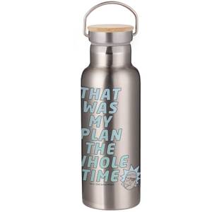 Rick & Morty That Was My Plan... Portable Insulated Water Bottle - Steel