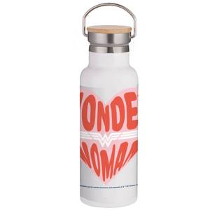 Wonder Woman Heart Portable Insulated Water Bottle - White