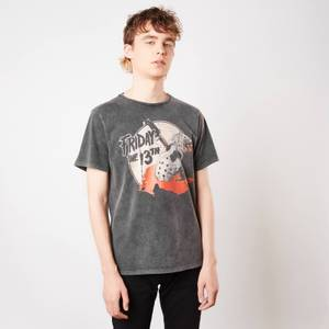 Friday 13th Final Chapter Unisex T-Shirt - Black Acid Wash