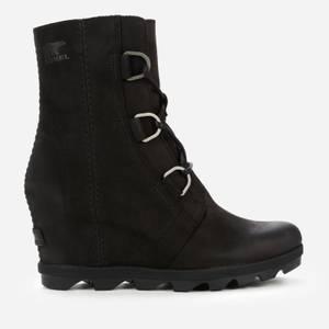 Sorel Women's Joan of Arctic II Waterproof Leather Wedged Boots - Black