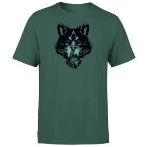 Assassins Creed Wolf Face Unisex T-Shirt - Green