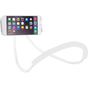 Adjustable Phone Holder Neck Mount - White