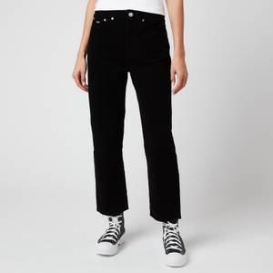 Tommy Jeans Women's Harper HR Straight Ankle Jeans - Black