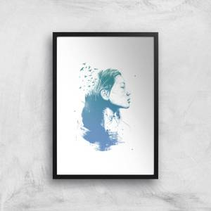 Open Your Mind To Blue Dreams Giclee Art Print