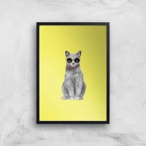 Summer Cat Giclee Art Print