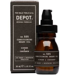 Depot No.505 Ginger and Cardamom Conditioning Beard Oil 30ml