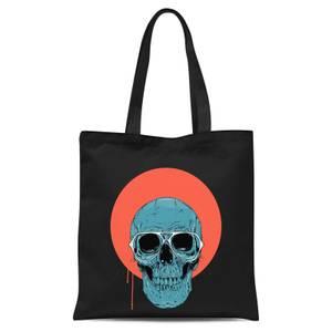 Blue Skull Tote Bag - Black
