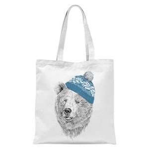 Hello Winter Tote Bag - White