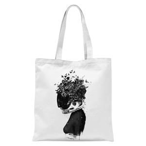Hybrid Girl Tote Bag - White