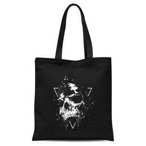 Skull Tote Bag - Black