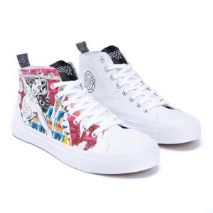 Akedo X Wonder Woman White Signature High Top