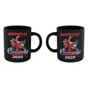 Grimmfest 2020 Skull Art Mug - Black