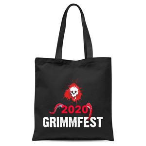 Grimmfest 2020 Red Skull Tote Bag - Black
