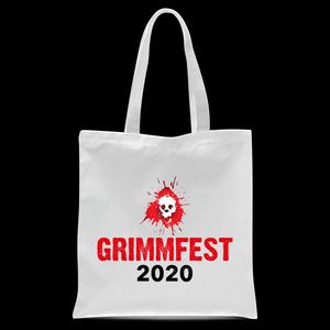 Grimmfest 2020 Skull Logo Tote Bag - White