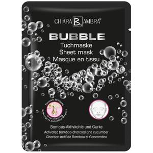 CHIARA AMBRA Bubble Tuchmaske Mit Bambus-Aktivkohle Und Gurke