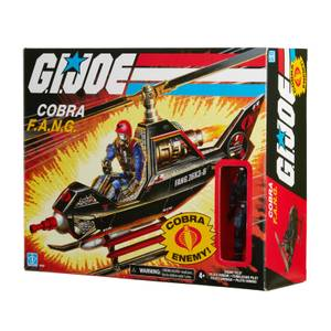 Hasbro G.I. Joe Retro Collection Cobra F.A.N.G. Vehicle and Cobra Pilot 3.75-Inch Scale Action Figure