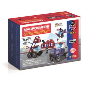 Magformers Amazing Police and Rescue Set 26 Pieces