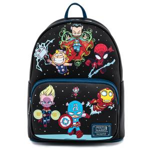 Loungefly Marvel Skottie Young Chibi Group Mini Backpack
