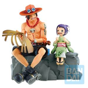 One Piece Ichibansho Figure Emorial Vignette Ace and Otama