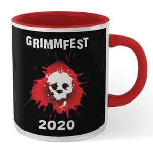 Grimmfest 2020 Skull Logo Mug - White/Red