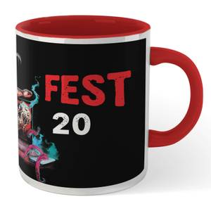 Grimmfest 2020 Mug - White/Red