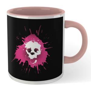 Grimmfest 2020 Pink Skull Logo Mug - White/Pink