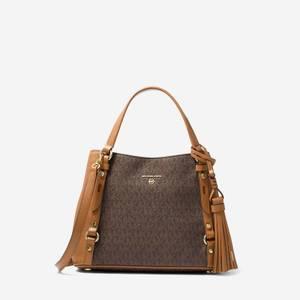 Michael Michael Kors Women's Carrie Medium Messenger Bag - Brown/Acorn