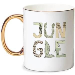 Jungle Bone China Gold Handle Mug
