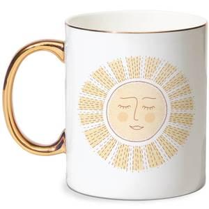 Sunny Side Up Bone China Gold Handle Mug