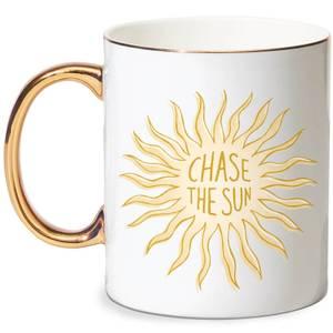 Chase The Sun Bone China Gold Handle Mug