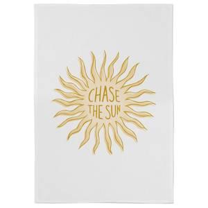 Chase The Sun Cotton Tea Towel - White