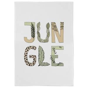 Jungle Cotton Tea Towel - White