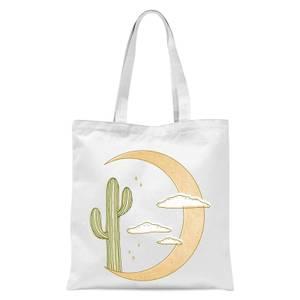 Moon Cactus Tote Bag - White