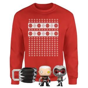 Offiziell lizenziertes MEGA-Weihnachtsgeschenkset von Marvel - inkl. Weihnachtssweatshirt plus 3 Geschenke