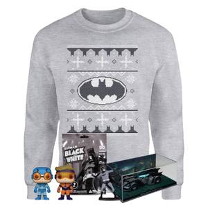 Méga Lot DC Comics Officiel Spéciale Noël - Sweat et 3 surprises