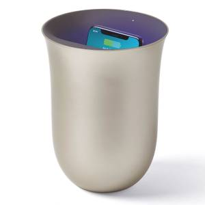 Lexon OBLIO Wireless Charging Station and UV Sanitiser - Gold