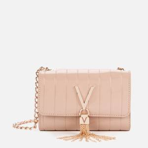 Valentino Bags Women's Bongo Patent Chain Clutch - Taupe